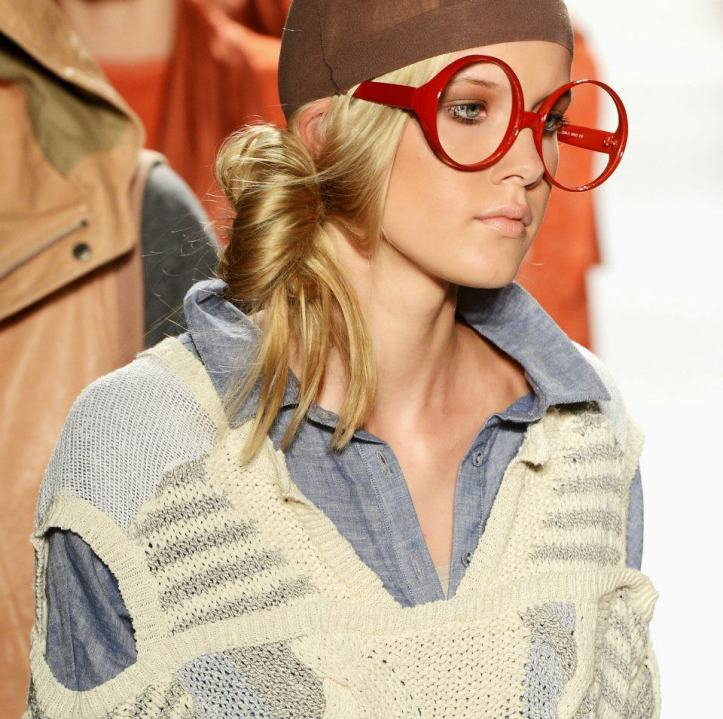 Nicholas K Red Frame glasses from spring 2013 collection.