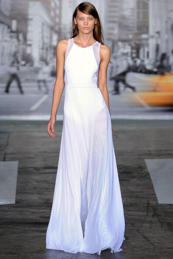 DKNY Spring 2013 maxi dress.