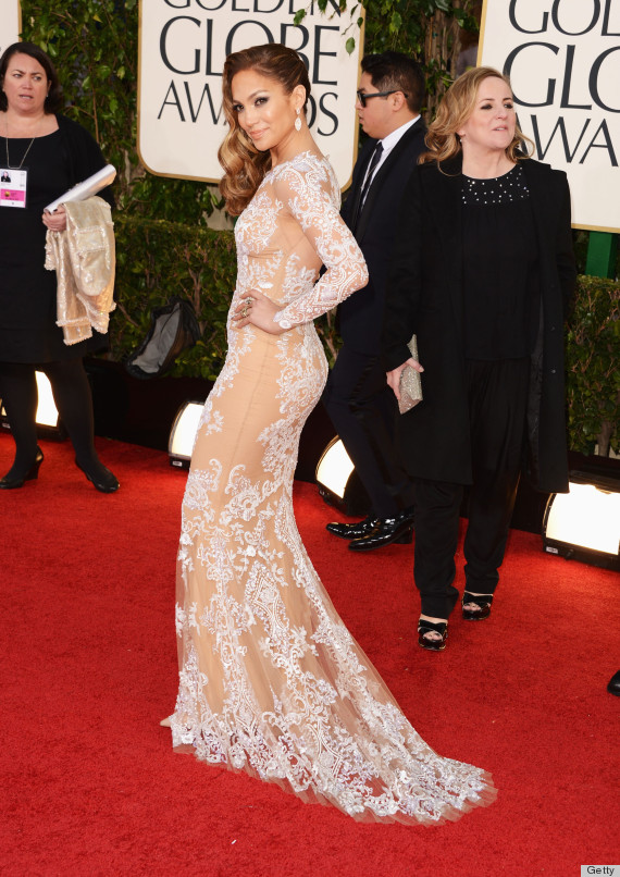 Jennifer Lopez in Zuhair Murad gown.