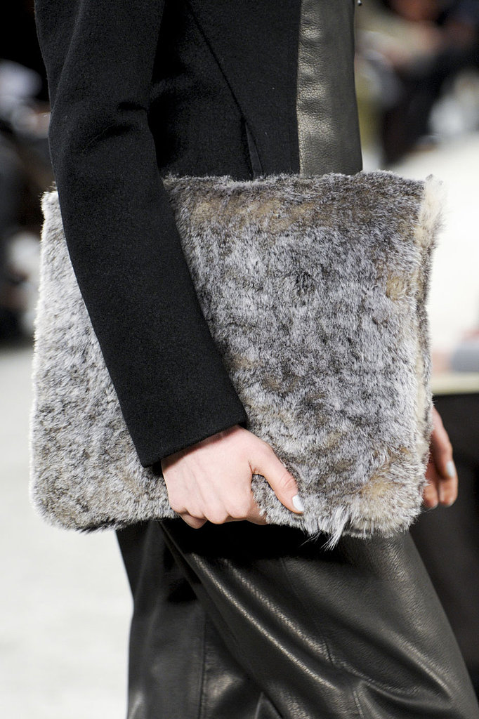 Zero + Maria Cornejo fur bag fall 2013