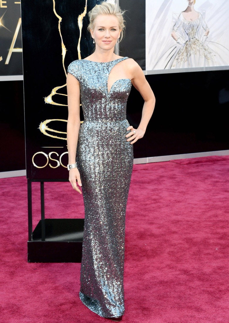 Naomi Watts in an Armani Prive gown.