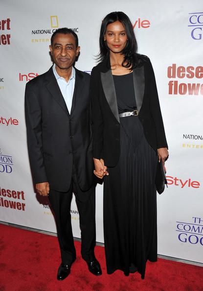 Liay Kebede with her husband, Kassy Kebede.