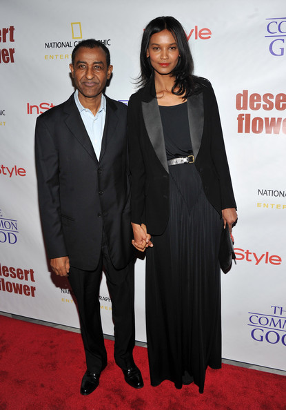 Liay Kebede with her husband, Kassy Kebede.