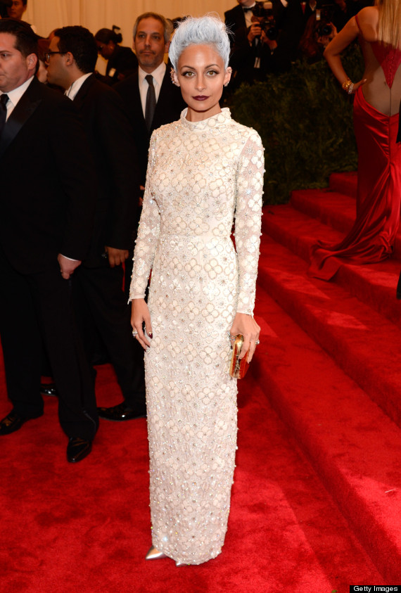 Nicole Richie at MET Ball in dress by TopShop.