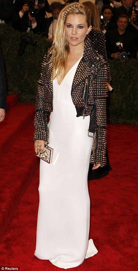 Sienna Miller in Burberry.