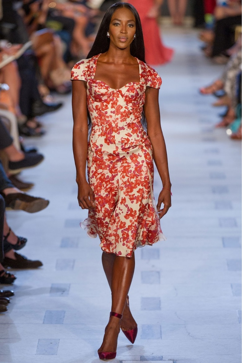 Zac Posen floral cocktail dress spring 2013.