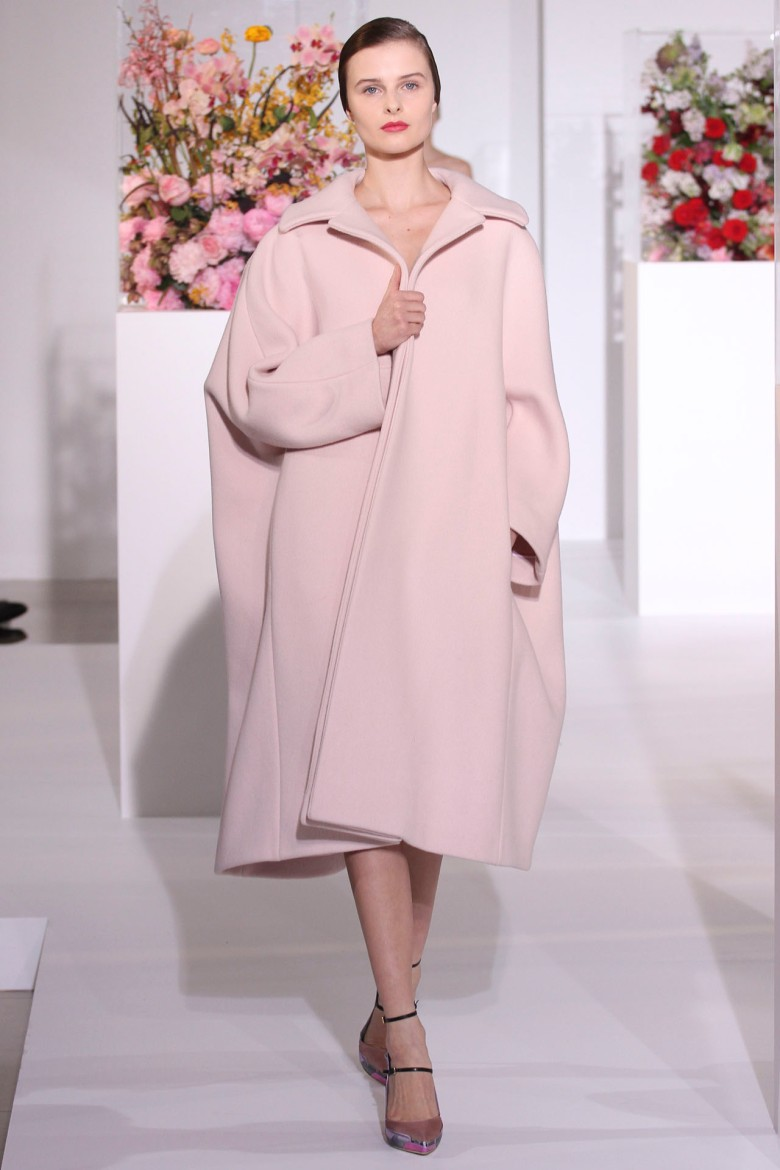 Pale pastel coat by Jil Sander.