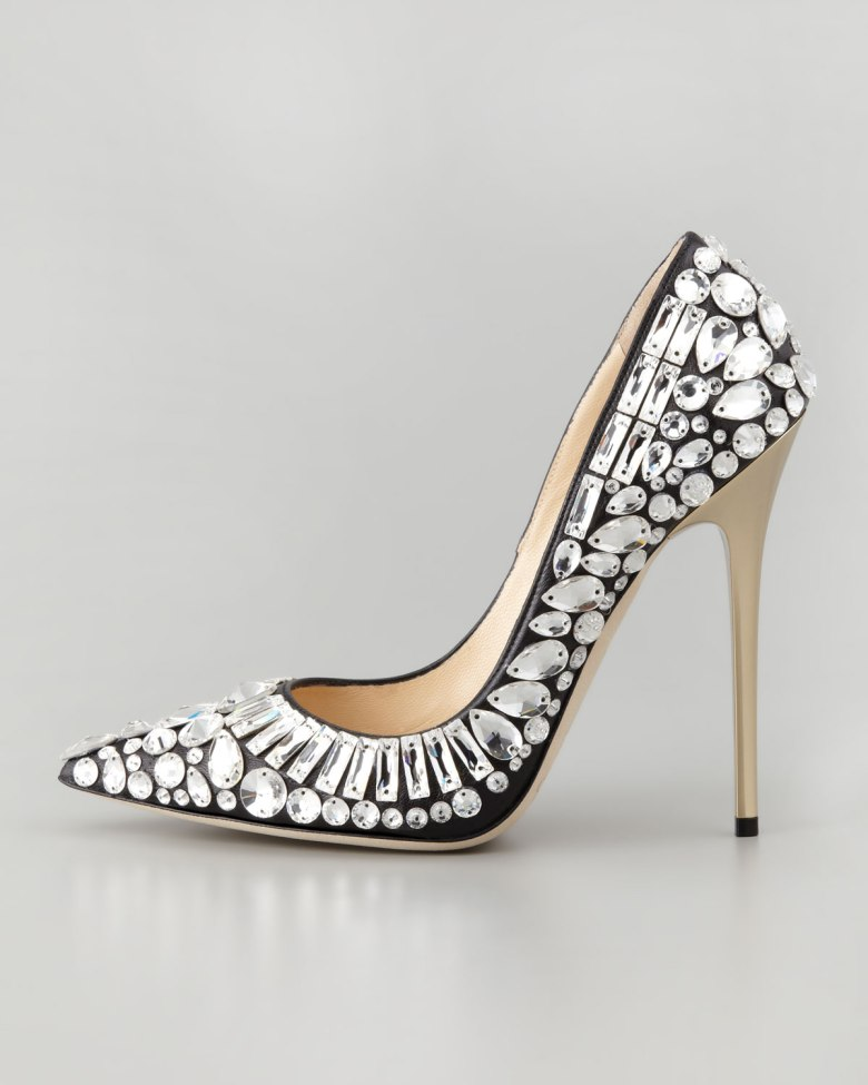Jimmy Choo, Tia embellished heels fall 2013.