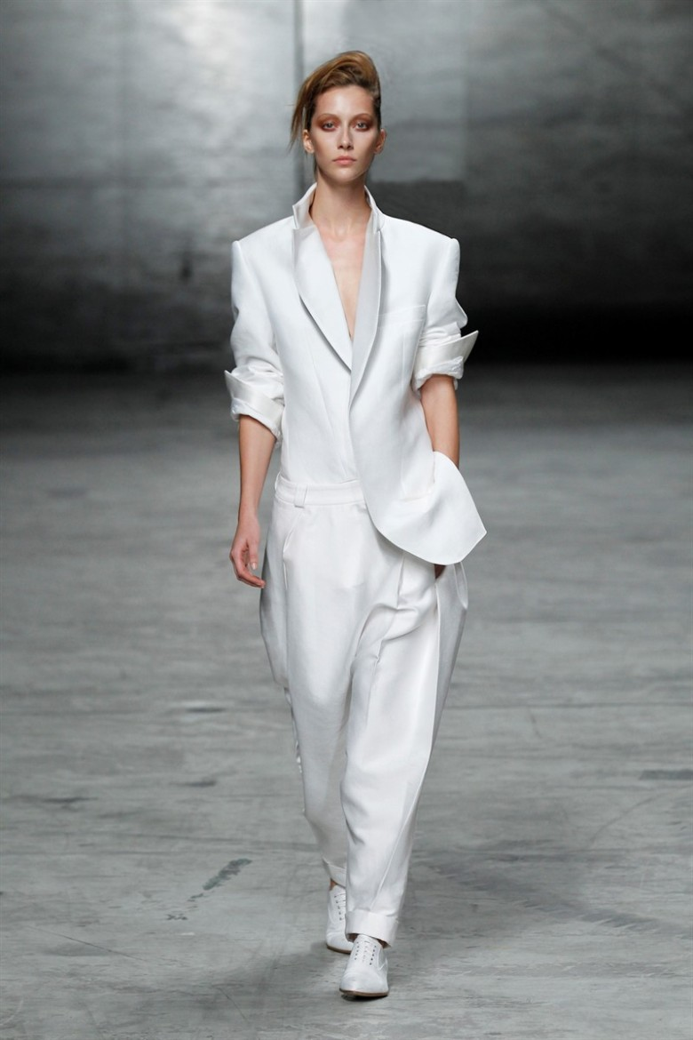 Haider Ackermann jacket and trousers from it's spring 2012 collection is still on trend for this season.