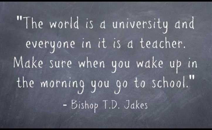 learning - td jakes