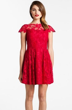 Cynthia Steffe lace dress.