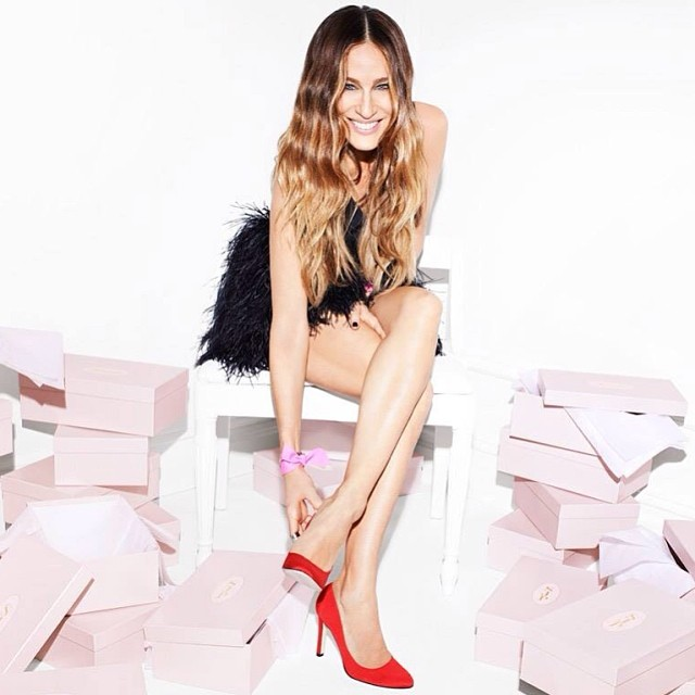 sjp red shoes