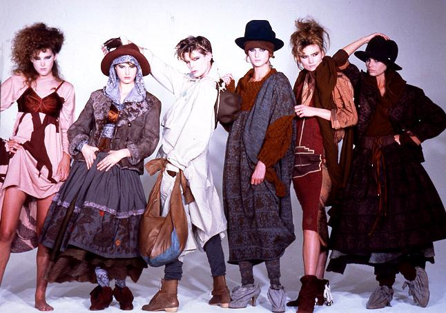 "Image from Vivienne Westwood's ""Nostalgia of Mud"" collection 1982-83."