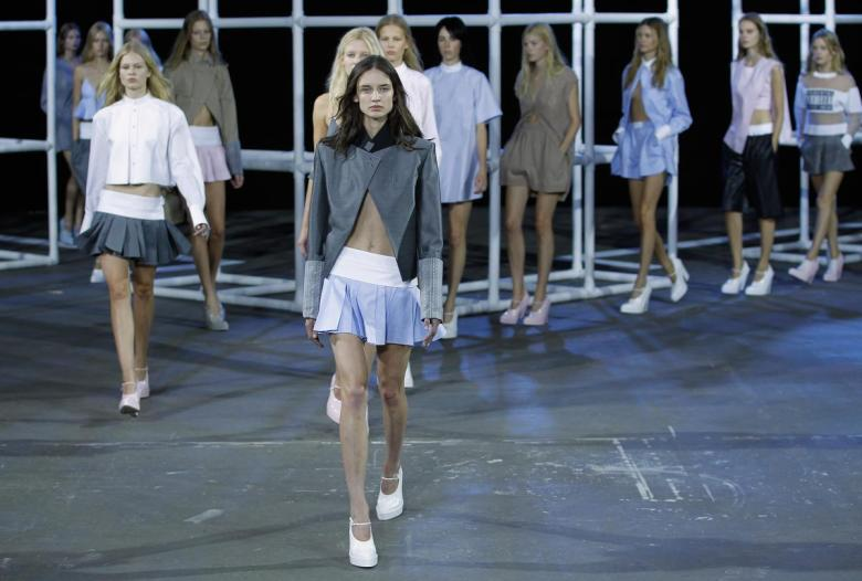 Alexander Wang's spring 2014 runway show during New York Fashion Week in September 2013.