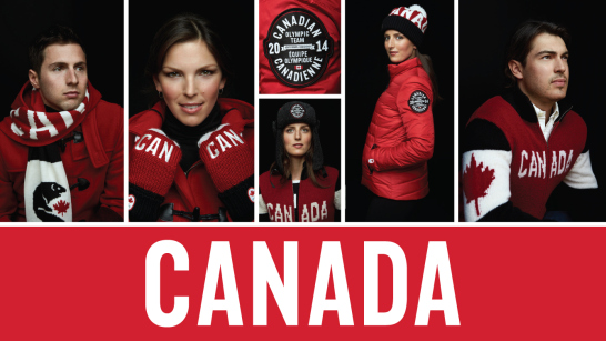 Hudson's Bay Canadian Olympic uniforms.