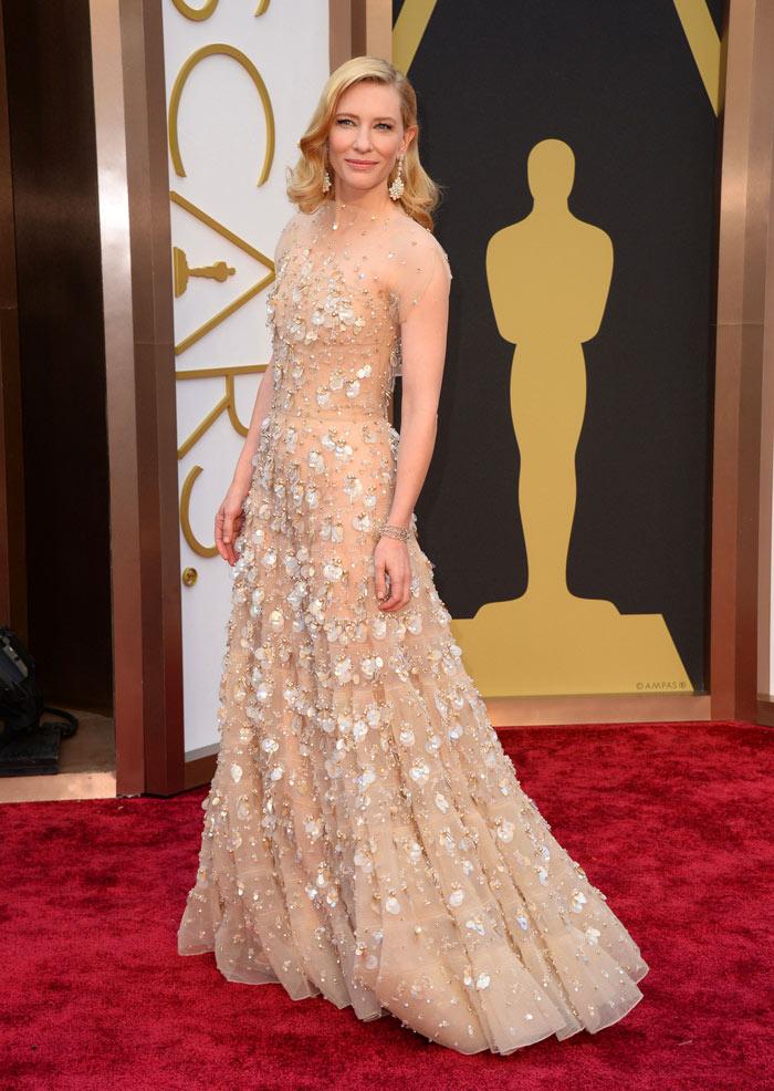 Cate Blanchett in Giorgio Armani.