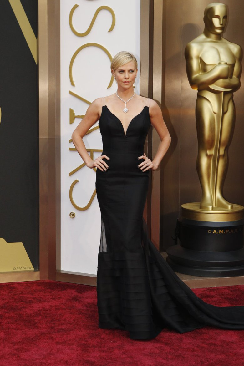 Charlize Therone in Dior. (Photo: ABC/Rick Rowell)