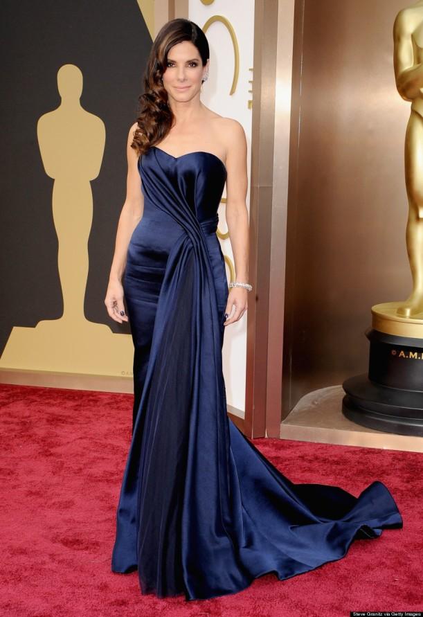 Sandra Bullock in Alexander McQueen.