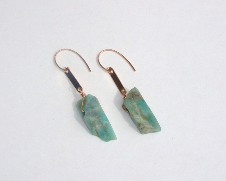 Amazonite Slab earrings by Intentional (Photo courtesy: Sue Melnick).