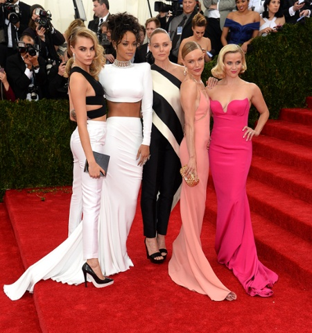 Cara Delevingne, Rihanna, Stella McCartney, Kate Bosworth and Reese Witherspoon. (Photo: Jamie McCarthy/FilmMagic)