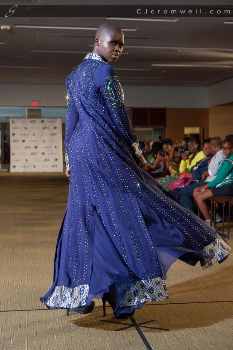 Model Grace Modi in Farida's Style hand beaded jacket. (Photo: CJ Cromwell)