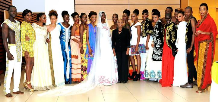 Farida's Style models with the designer after the runway show.(Photo: Mastering Image)