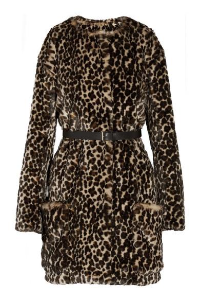 Nina Ricci leopard print faux fur coat $1735USD.  Available at net-a-porter.
