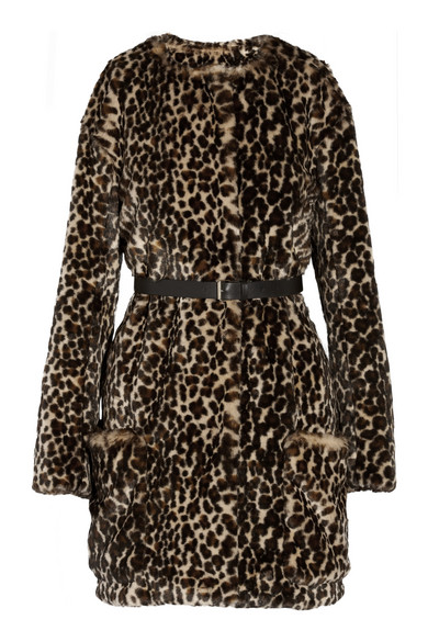 Nina Ricci leopard print faux fur coat $1735USD.  Available at net-a-porter.