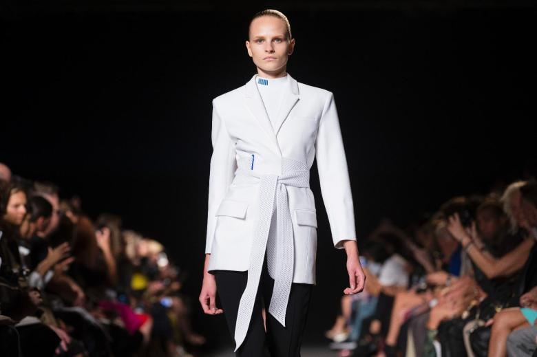 Alexander Wang collection at New York Fashion Week show on Saturday September 6, 2014. (AP Photo/John Minchillo)