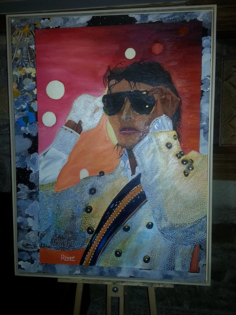 Portrait of Michael Jackson by River.