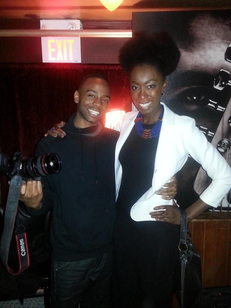 With artist Tungztwisted (Sean Caesar).