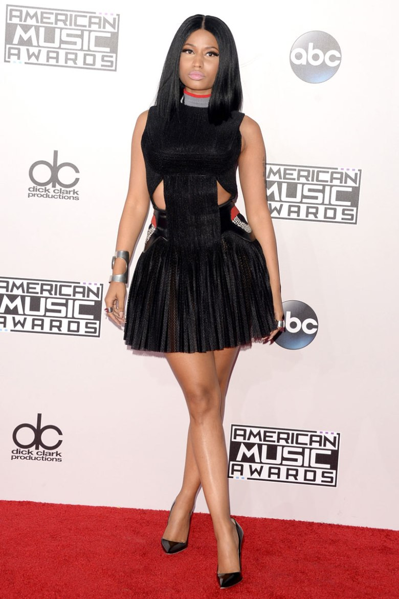 Nicki Minaj did well in this Alexander Wang. (Photo: Getty Images)