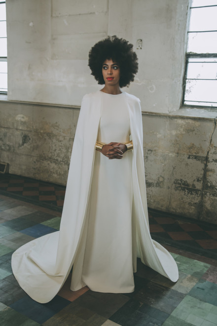 Solange looked regal in her custom dress. (Image by Rog Walker)