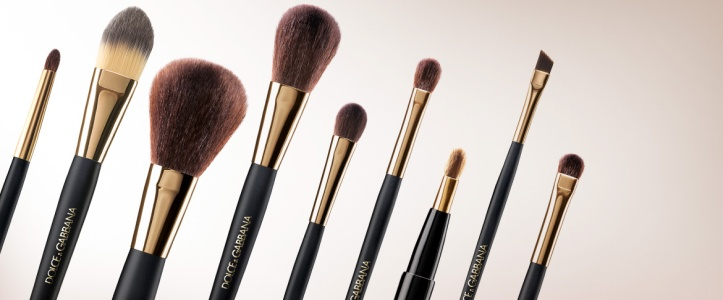 Dolce and Gabbana makeup brushes.