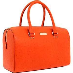 Kate Spade tangerine leather Melinda tote.