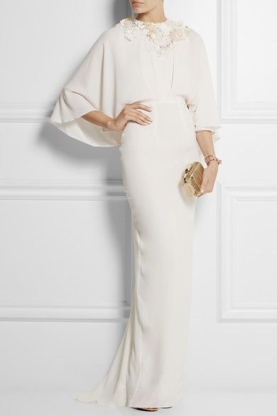Istia embellished crepe gown by Biyan and Religion one-shoulder strap dress