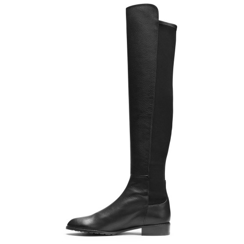 OnlyMaker Pull-on Pointed Toe Flat Over the Knee Boot