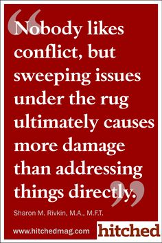 sweeping under rug