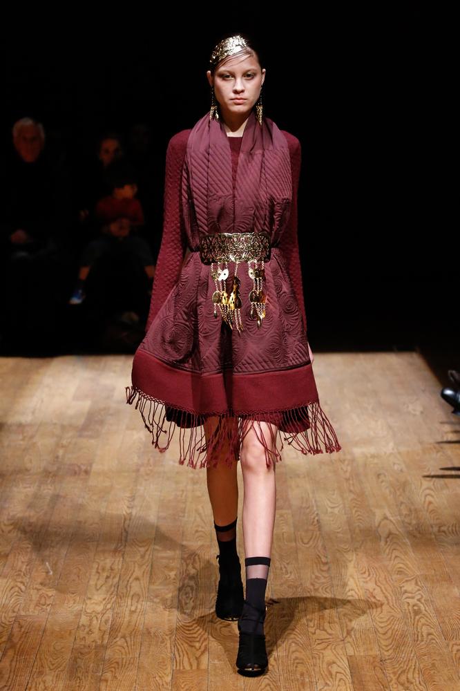 Josie Notori, fall 2015 at New York Fashion Week. (Getty Image)