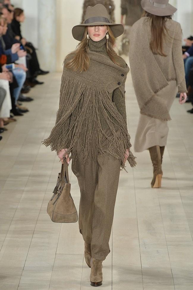 Ralph Lauren, fall/winter 2015 New York Fashion Week.
