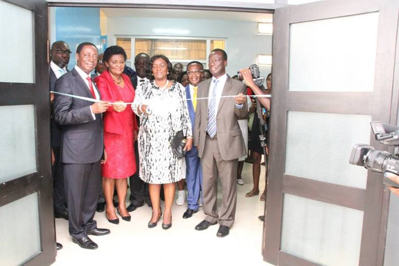 Official ribbon cutting to open the newly renovated second floor of the maternity ward. Inside the refurbished maternity ward. (Photo credit: uniBank Ghana Limited)