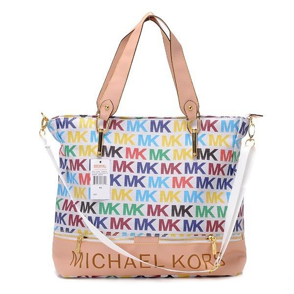 Michael Kors multi-colour monogram bag.