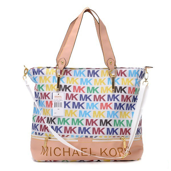 Michael Kors multi-colour monogram bag.