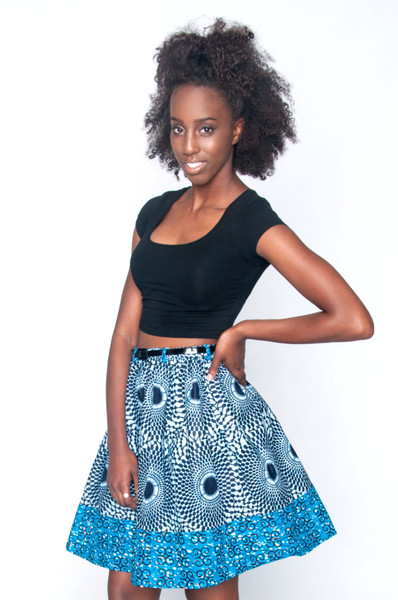 Poqua Poqu Yopa skirt in blue.