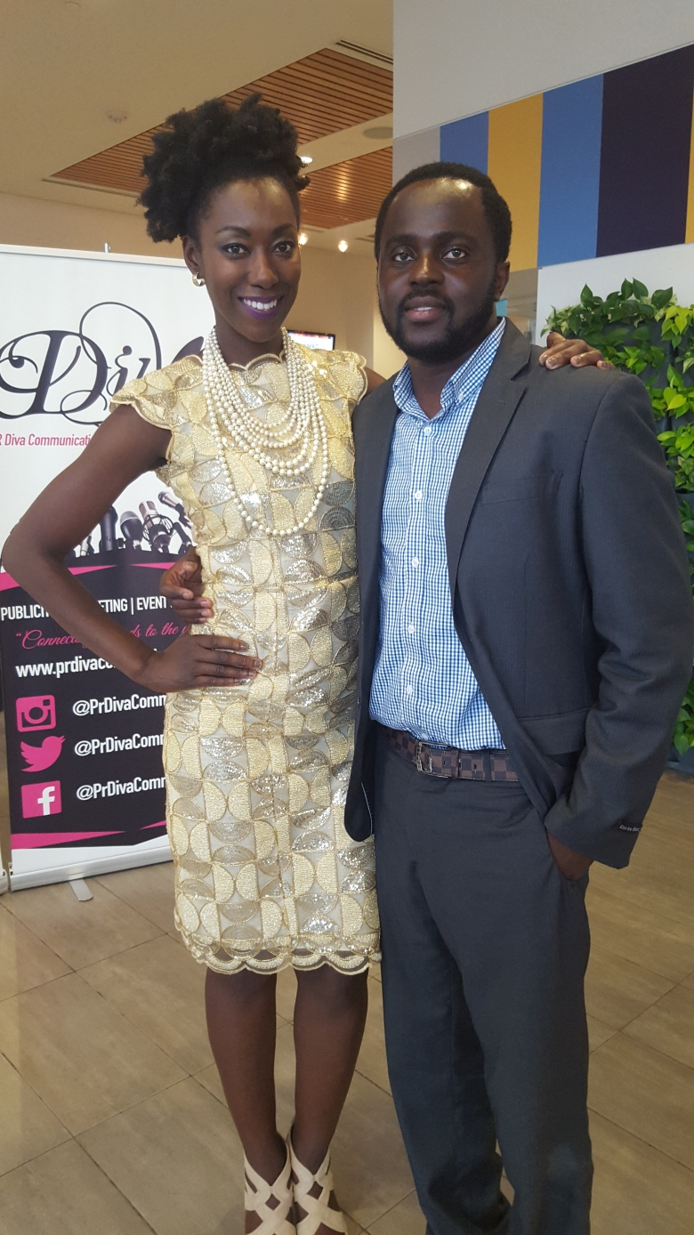 Myself with Isaac Ansah, the Co-Founder of African Fashion Week Toronto