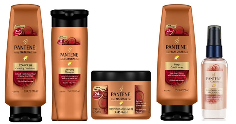 Pantene's Truly Natural products include a Co-wash and a twisting custard.