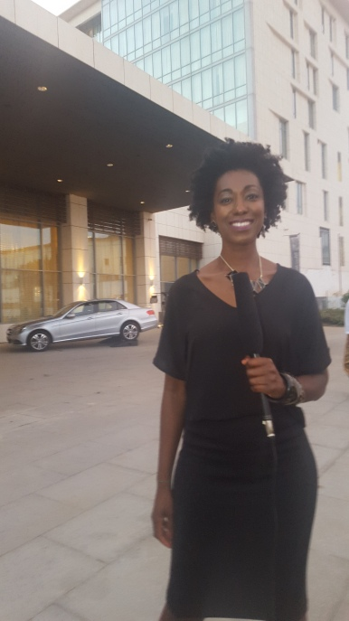 Covering the events outside Kempinski Hotel.