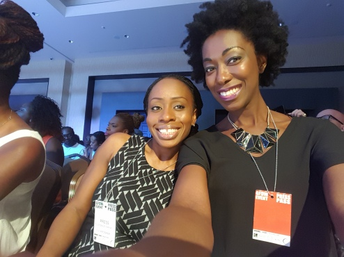 In the front row with Florence, of Publicis and ABC Ghana.