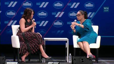 Michelle Obama and Obrah Winfrey speak about the state of women and girls and what's ahead for the future.