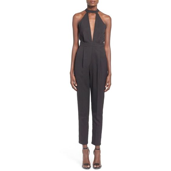 misguided cutout halter jumsuit